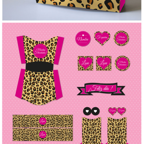 kit imprimible leopardo
