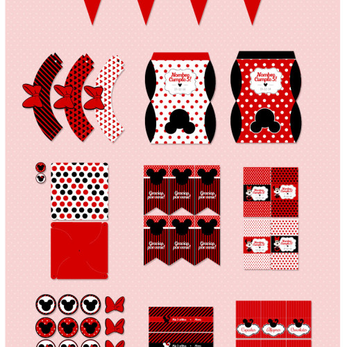 kit imprimible minnie mouse