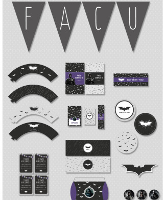 Kit imprimible Batman