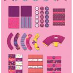 Kit imprimible Willy Wonka Nenas