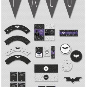 Kit imprimible Batman