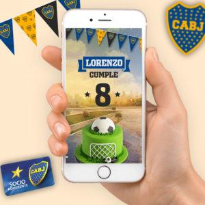 Invitación en video de Boca Juniors para enviar por whatsapp