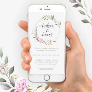 Video invitación boda minimalista